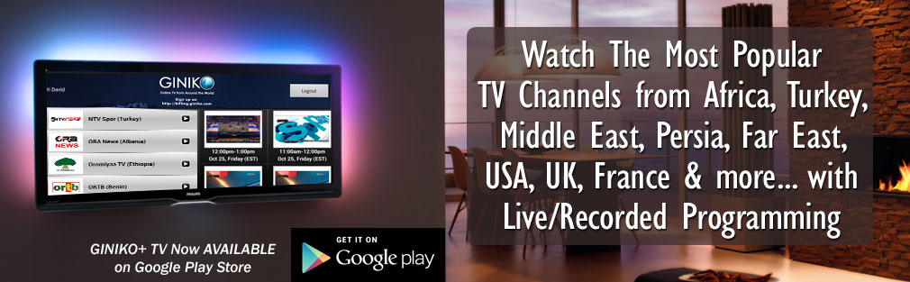Giniko - Watch Free TV Online: Live & DVR (English, French, Persian